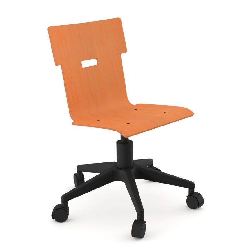 Handi Chair 100 Stain Orange