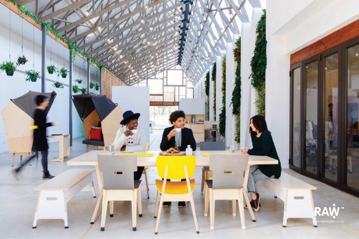 RAW Epik workspace range Greenhouse office work life collaboration desk chairs furniture