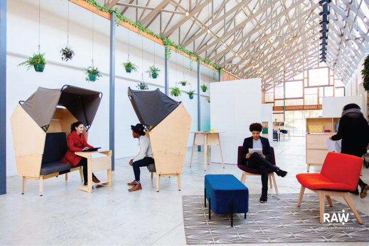 RAW Epik workspace range Greenhouse office work life collaboration pod furniture