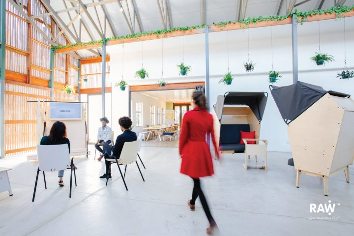 RAW Epik workspace range Greenhouse office work life flex-space collaboration hub furniture