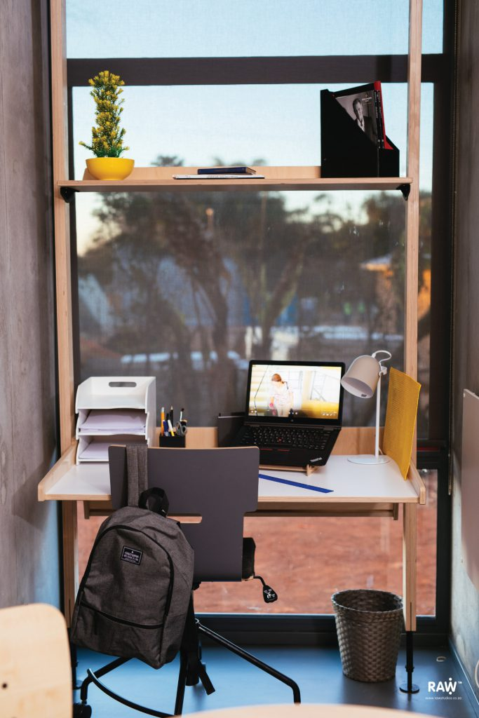 RAW TUKS Stilts Future Africa Institute study desk shelf furniture