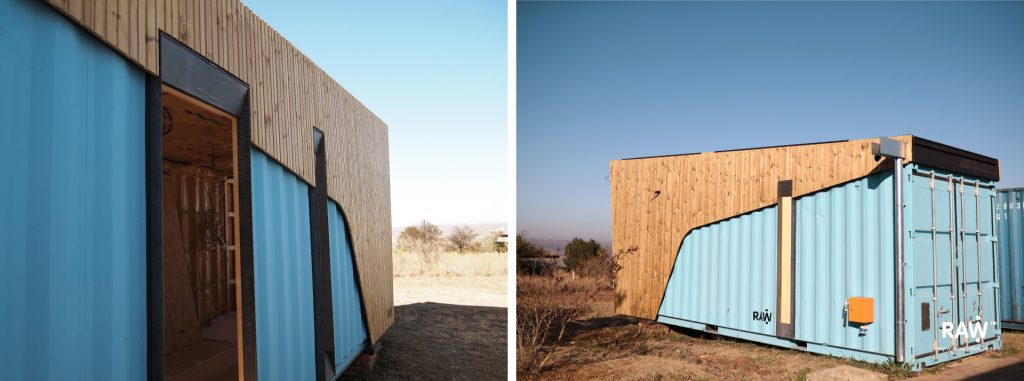 Nestling: Micro-living (work-in-progress) container, small living places with engineered wood materials