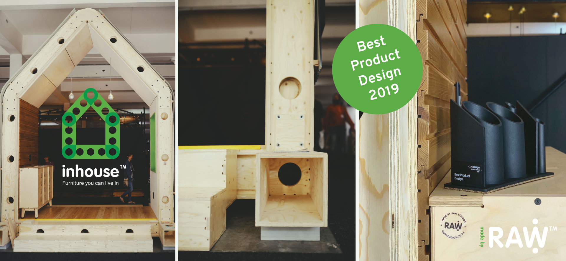 RAW Studios 100% Design 2019 Best Product Design Award Inhouse: Plywood Home