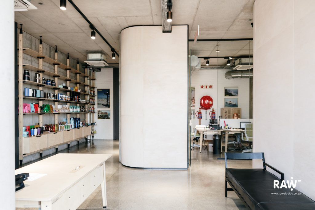 Tribeca workspaces - functional plywood shelving and workstations furniture